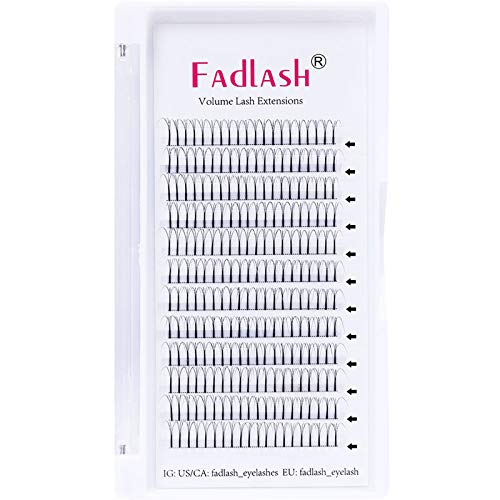 Russian Lashes 3D Long Stem 0.10 D Curl 13mm Single Tray Premade Russian Volume Lashes Pre Made Fan Lashes(3d-0.10-d-13)