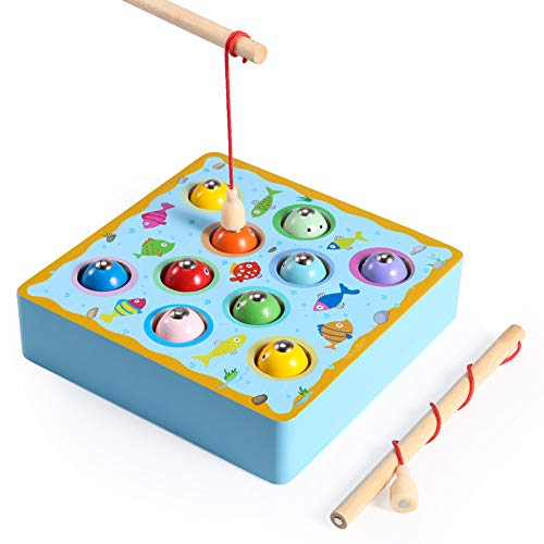 魚釣りおもちゃ Volador 釣りおもちゃ 木製 お釣りゲーム 知育玩具 釣り竿教育 幼児 子供 男の子 女の子 子ども 誕生日 クリスマス プレゼント 贈り物 入園お祝い
