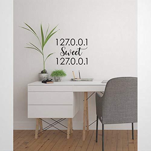 Sweet Office Humor S for Techs Tech It - Vinilo adhesivo para pared y murales para puerta de negocios, decoración del hogar, póster extraíble para dormitorio, sala de estar, guardería interior.