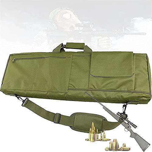VULLDWS Caja de rifle táctico al aire libre de Airsoft, bolsa de rifle largo con protección contra algodón de huevo, correa de hombro ajustable, tiro de caza Airsoft Pistola de rifle de aire para caza