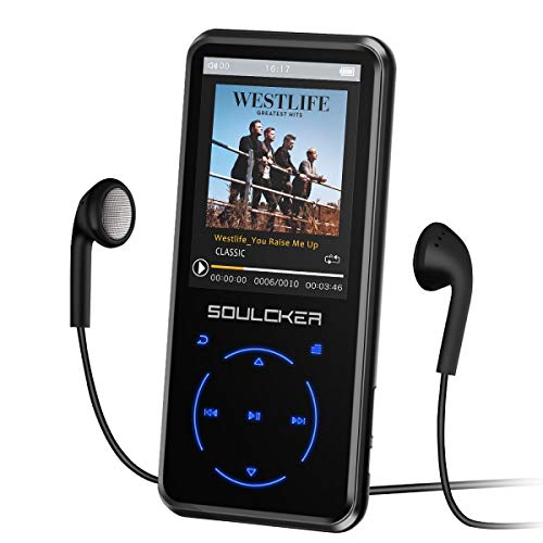 MP3 Player, 16GB MP3 Player with Bluetooth 5.0, Portable HiFi Lossless Sound MP3 Music Player with FM Radio Voice Recorder E-Book 2.4'' Screen, Support up to 128GB (Headphone, Sport Armband Included)