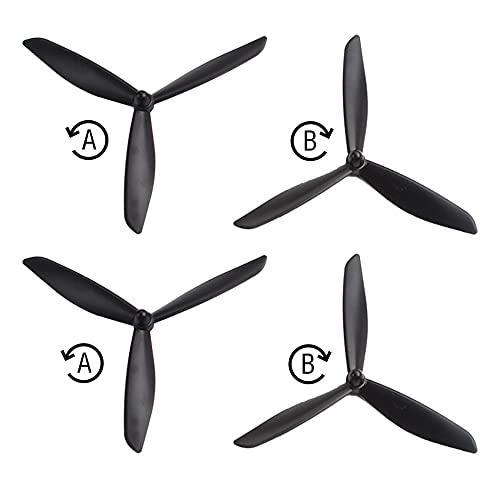 GzxLaY RC Quadcopter per Hubsan 50 1S X4 HS700. Banderuola a Triangolo aggiornato per MJX B3 B3 PRO B2SE Accessori per Parti di Riparazione del Drone ( Color : Black )