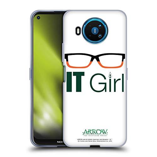 Head Case Designs Oficial Arrow TV Series Felicity Smoak IT Girl Graphics Carcasa de Gel de Silicona Compatible con Nokia 8.3 5G