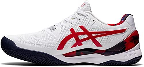 ASICS Gel-Resolution 8 Clay L.e, Zapatillas de Tenis Hombre, Color Blanco clásico, 41.5 EU