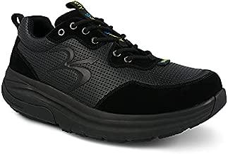 Gravity Defyer Men's GDEFY Shaxon Athletic Shoes 13 M US - Hybrid VersoShock Proven Performance Shock-Absorbing Leather Pain Relief Shoes Black