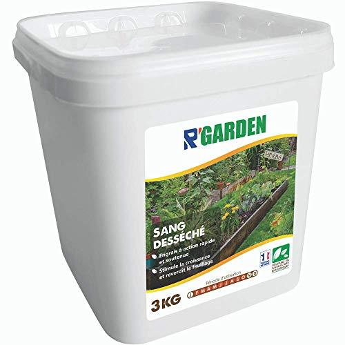 R'Garden | Engrais Organique Sang Desseché | Engrais Ecologique | Fertilisant Naturel | Nourrit en Profondeur | Facile d'Utilisation | 3KG