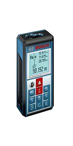 Bosch Professional Laser Entfernungsmesser GLM 100 C (Micro-USB Ladegerät, Schutztasche, Messbereich: 0,05 - 100 m, Messgenauigkeit: ± 1,5 mm)