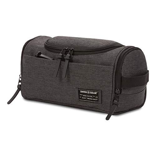 SWISSGEAR Hanging Toiletry Bag | Premium Men's and Women's Travel Dopp Kit | Travel Organizer for Bathroom, Gym, and Shower Toiletries – Heather Grey