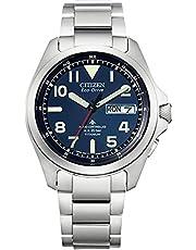 [Citizen] 腕時計 プロマスター PROMASTER エコ・ドライブ電波時計 LANDシリーズ AT6080-53L メンズ シルバー