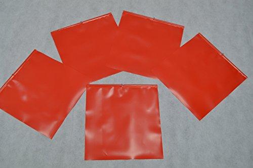 5 X Endfahne Schlussfahne Rot 30 x 30 cm Warnflagge überstehende Ladung Finne