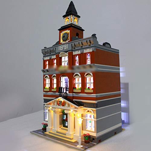 Fujinfeng Kit di Illuminazione LED per Lego 10224 Town Hall Costruzioni Kit luci LED - Solo Inclusa Luce a LED