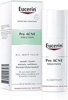 Eucerin Pro Acne Solution A.I. Matt Fluid Acne-Oil Control 50ml Reduces comedonal acne & Soothes irritations