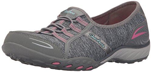 Skechers Sport Women's Breathe Easy Good Life Walking Shoe,Gray/Pink,7.5 M US