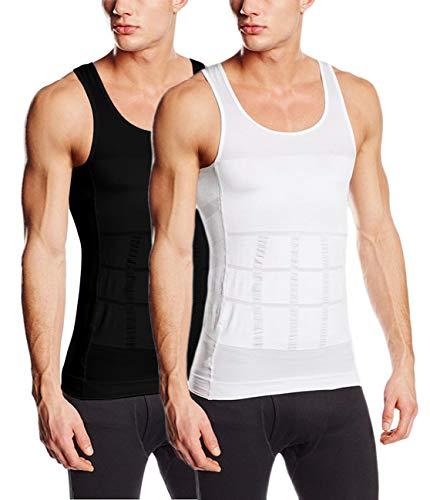 Sodacoda Körperformendes Unterhemd für Herren - Kompression im Bauchbereich (2X Mix L)