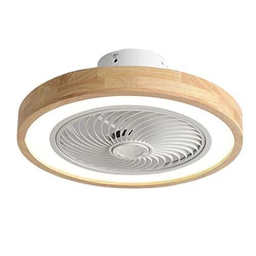 MY-HSLK - Moderno ventilador de techo con iluminación y mando a distancia, ventilador silencioso de 36 W, 3 velocidades, ventilador de techo con luz para habitación de los niños, salón
