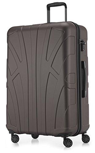 Suitline - Maleta rígida, Equipaje de Viaje, TSA, 76 cm, Aprox. 96 litros, 100% ABS Mate, Titanio