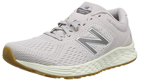 New Balance Women's Arishi V2 Fresh Foam Running Shoe, Light Cashmere/Dark Cashmere Metallic/sea Salt, 12 B US
