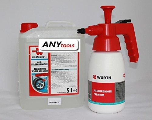 Preisvergleich Produktbild WÜRTH ALU Felgenreiniger 5 L + Pumpsprühflasche SET