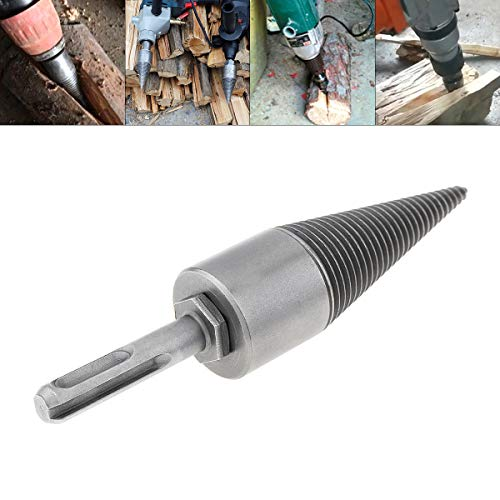 New ChgImposs 30MM/1.18Inch Steel Speedy Firewood Drill Bit, Wood Splitter Screw Cone Heavy Duty Spl...