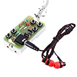 WHDTS FM Stereo Radio Module w/Earphone DIY Kit Adjustable 76-108MHz Wireless Receiver DC 3V for Soldering Practice Electronics Learning & Decoration