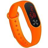 Fan Kouyang LED Uhr Sportuhr wasserdichte leuchtende Digitaluhr Armbanduhr (Orange)