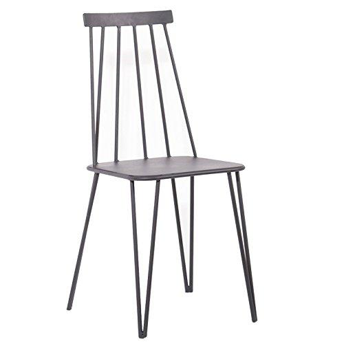Indhouse - Sedia di design Loft in stile industriale vintage con asta e metallo tribeca