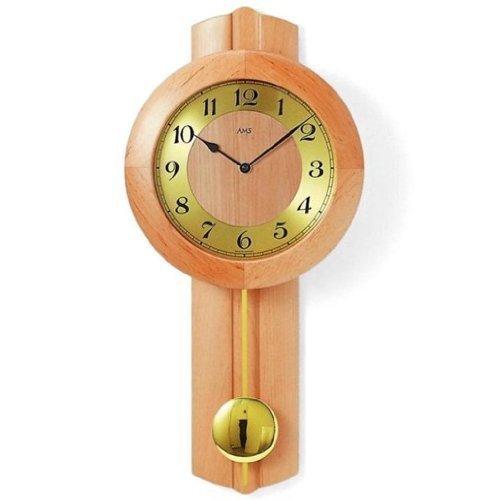 Bonito reloj de pared con péndulo radio reloj de títeres de madera tienda online comprar online seguro en grandes relojes AMS 5165-16