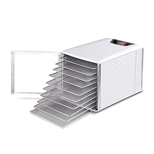 5 Star Chef Stainless Steel Commercial Food Dehydrator with 10 Trays