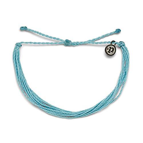 Pura Vida Original Crystal Blue Bracelet - 100% Waterproof, Adjustable Band - Plated Brand Charm