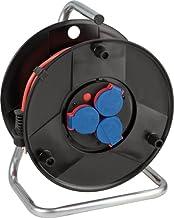 Brennenstuhl Kabelhaspel (outdoor kabelhaspel met 20 m kabel in rood, van speciale kunststof, voor tijdelijk en tijdelijk ...