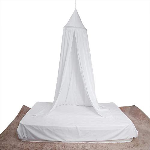 Mosquitera baldaquino Dome Princess Bed de algodón para decorar la habitación de los niños y bebés, juego de interior para leer la casa (blanco)