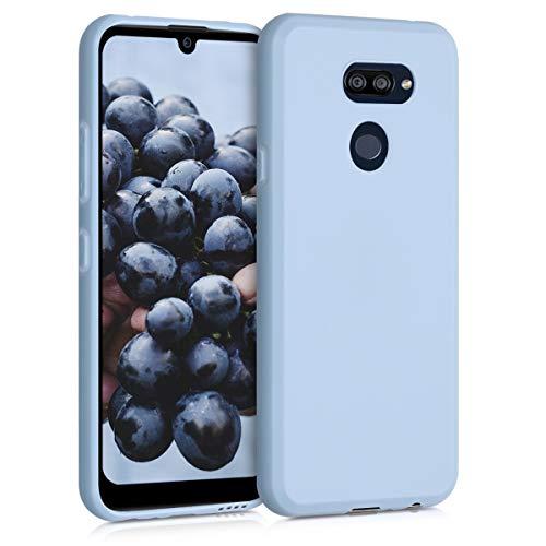 kwmobile Hülle kompatibel mit LG K40S - Hülle Silikon - Soft Handyhülle - Handy Hülle in Hellblau matt