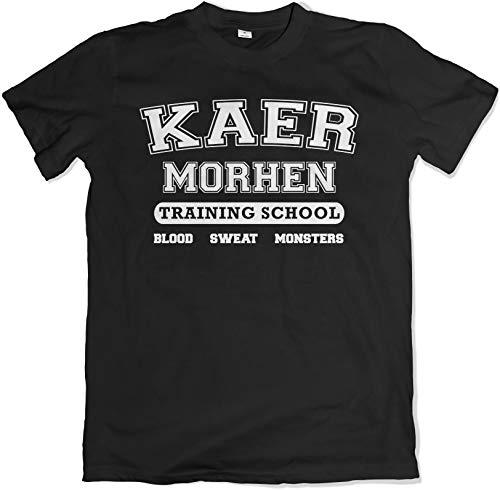 Camiseta, diseño con texto 'Kaer Morhen Training' negro XL
