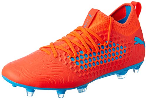 Puma Future 19.3 Netfit FG/AG, Zapatillas de Fútbol Hombre, Rojo (Red Blast-Bleu Azur), 42 EU