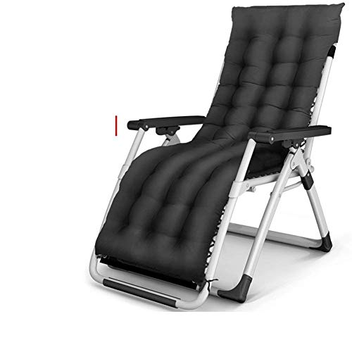 FACAIA Silla Zero Gravity Chaise Lounges Silla Plegable Sillas tumbonas reclinables Ajustables al Aire Libre para Oficina Patio Playa con Cojines Soporte 200 kg, B