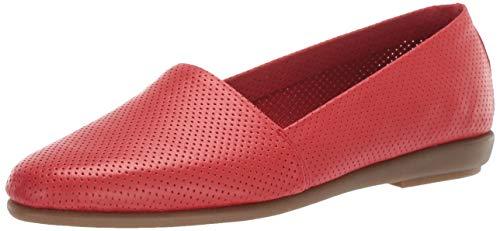 Aerosoles MS Softee Ballet Flat, RED Leather, 5 M US