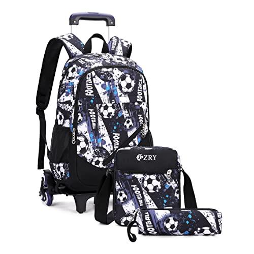 Htgroce trolley bag boy ruote zaino borsa da viaggio zaino scuola per bambini può salire le scale facile da installare staccabile