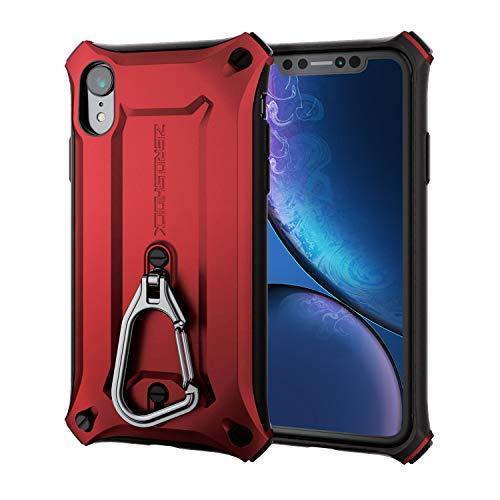 エレコム iPhone XR ケース 衝撃吸収 ZEROSHOCK カラビナ付き MIL規格準拠 レ…