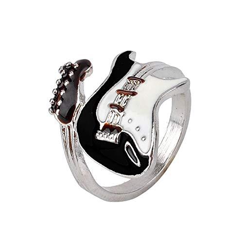 BQZB Anillo Moda Eléctrica Dedo Aleación Estilo Mujeres Anillo Joyería Rock Hombres Unisex Guitarra Personalidad Anillo Punk