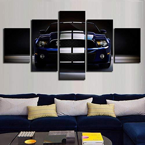 Bilder Dekorative malerei Spray malerei leinwand malerei 5 stück Ford Mustang Leinwand Wandbild, Möbel Art Deco, Rahmen