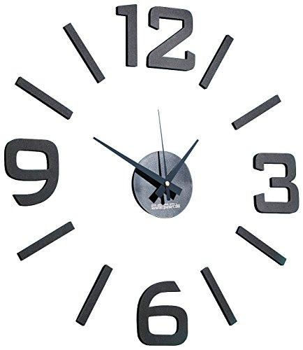 PEARL Uhr zum Aufkleben: 1-Meter XXL-Design-Wanduhr zum Aufkleben (Wanduhr XXL Kleben)