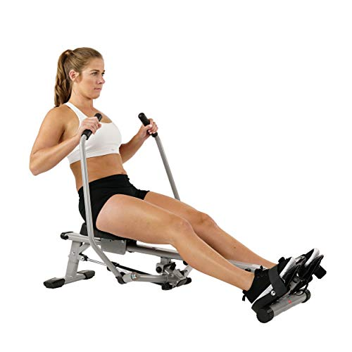 Sunny Health & Fitness SF-RW5639 Full Motion Rowing Machine Rower w/ 350 lb Weight Capacity and...