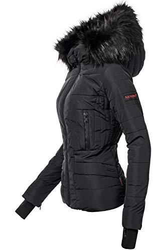 Navahoo Damen Winter Jacke Steppjacke Adele Schwarz Gr. M