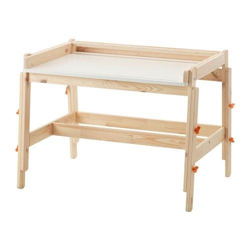 IKEA FLISAT Kinderschreibtisch aus Massivholz; verstellbar
