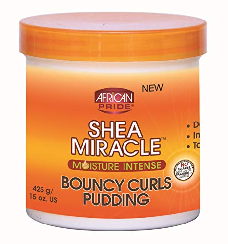 African Pride Shea Butter Miracle Bouncy Curls Pudding 15oz Jar by African Pride