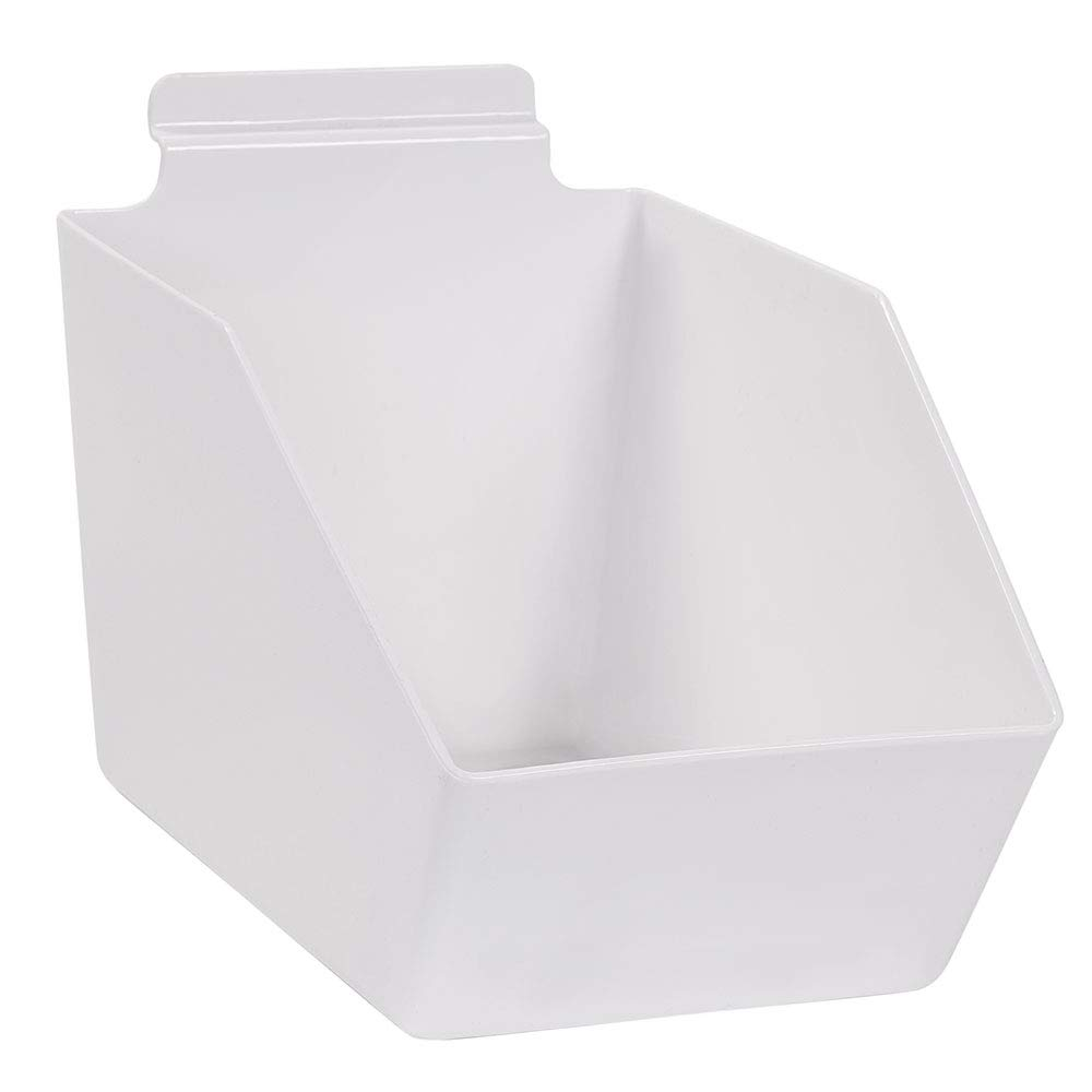 6 x Arlington Mall Finally resale start 5 ½ 9 inch White Dump for Plastic Bin - Slatwall