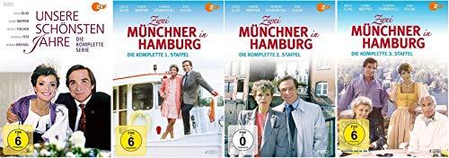 Unsere schönsten Jahre (3 DVDs) + Zwei Münchner in Hamburg - Staffel 1-3 (12 DVDs)
