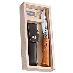 Opinel-Messer, nicht rostfrei in Holzbox