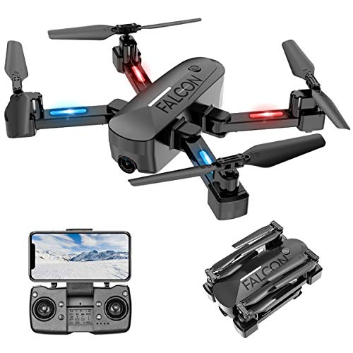 Drone with Camera, GPS Drone with Automatic Calibration Function, 4K HD, 5G FPV Transmission, Foldable Drone with Rechargeable Remote Control, 15 Mins Flight Time, Beginner Friendly Mode(2020 New)