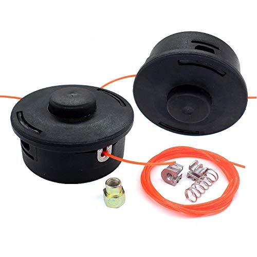 Aisen Lot de 2 têtes de débroussailleuse avec ressort de pression pour Stihl FS44 FS55 FS80 FS83 FS85 FS90 FS110 FS130 Remplace AutoCut 25-2 4002 710 2108